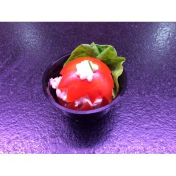 Tomate aux crevettes grises