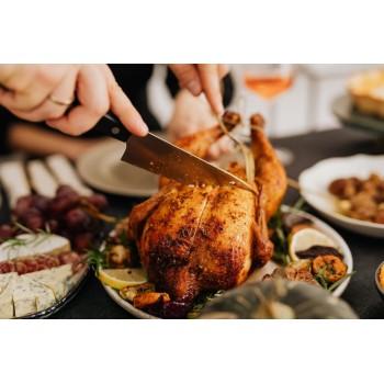 Poulets rôtis et cuits